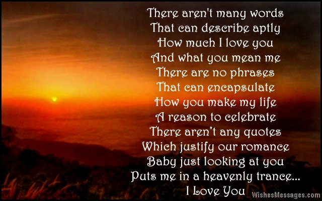 Beautiful short i love you poem for her