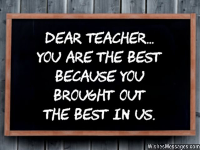 Thank You Teacher Quotes Best Thank You Notes For Teacher Messages And Quotes  Wishesmessages
