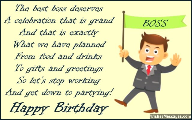 Birthday Card Poem To Boss From Employees