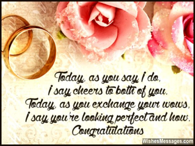 congratulations wedding card message for getting married