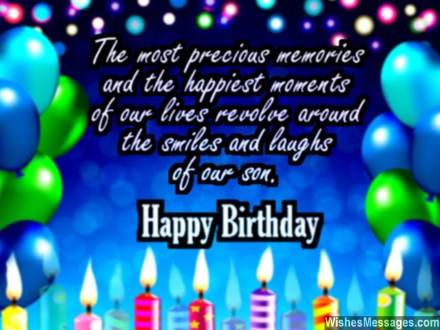 Birthday wishes for son quotes and messages wishesmessages cute birthday greeting card for son from mom and dad m4hsunfo