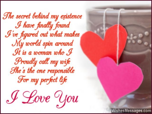 Poem Love Romantic For Wife I