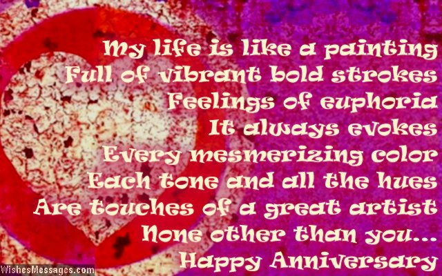 Cute poem to say happy anniversary to him