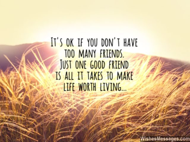Friendship quote one true friend in life worth living