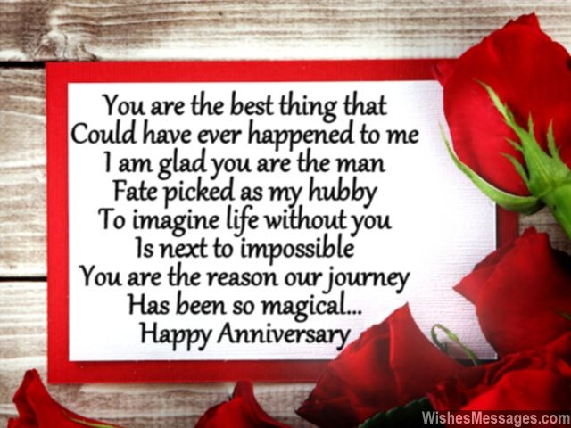 Anniversary Poems For Husband Poems For Him WishesMessages