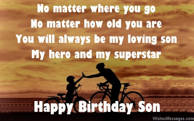 Happy birthday poem for son