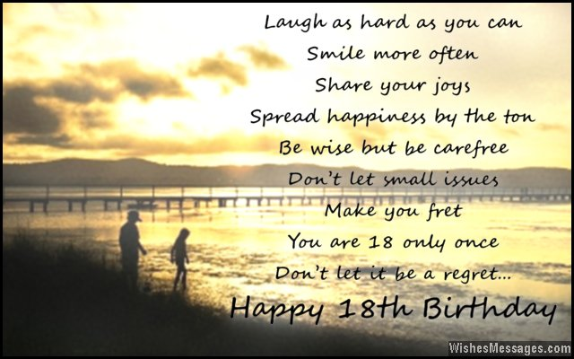 Inspirational 18th birthday card wishes