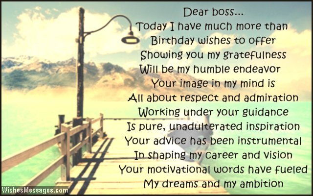 Inspirational birthday greeting card poems for boss