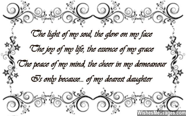 Birthday Poems for Daughter – WishesMessages com