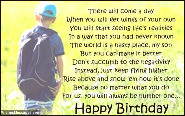 birthday poems for son � wishesmessagescom