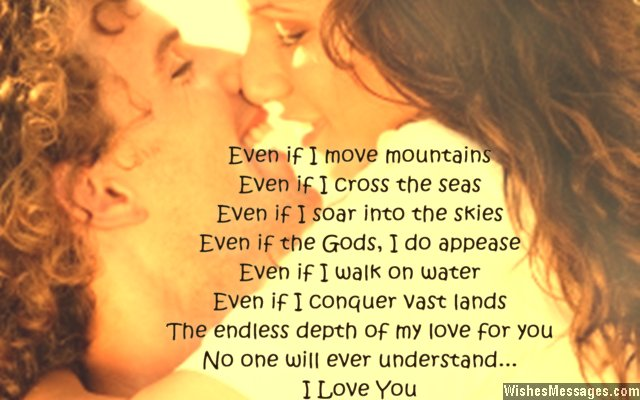 Sweet poem to say I love you to wife