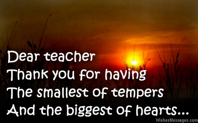 Thank You Notes For Teacher: Messages And Quotes – Wishesmessages.Com