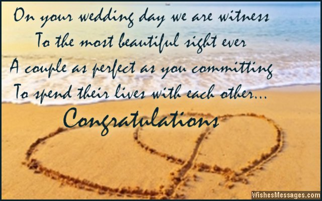 Sweet wedding greetings for a newly married couple