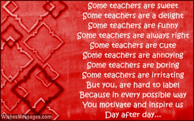 thank you poem for teacher - photo #29