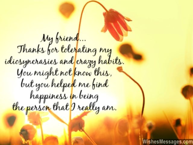 Thank you my friend quote friendships day message gratitude