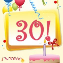 Thirtieth birthday card small