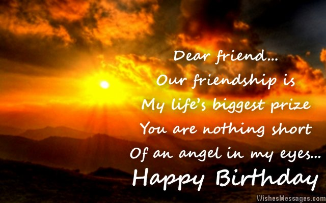 Beautiful birthday quote for special friends