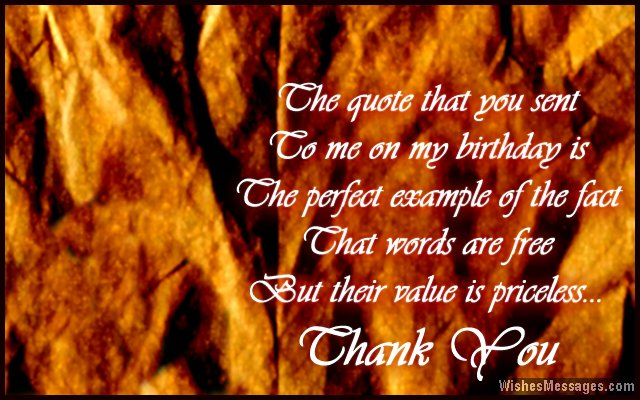 Thank you messages for birthday wishes quotes and notes beautiful quote to say thank you for birthday wishes m4hsunfo Images