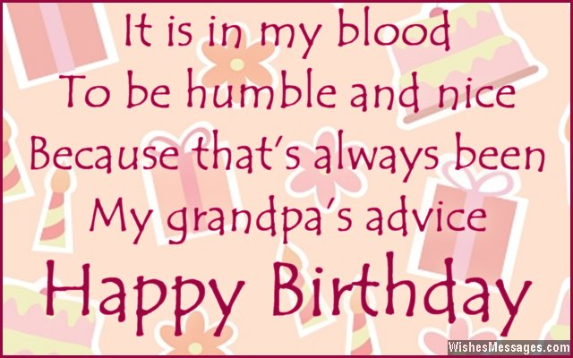 Birthday card quote for grandfather