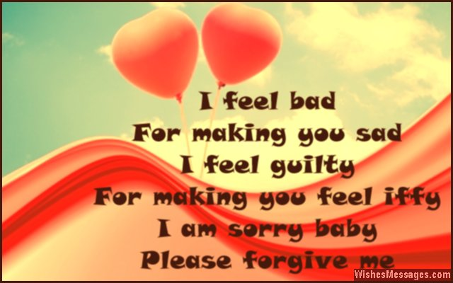 Apologetic messages to a loved one