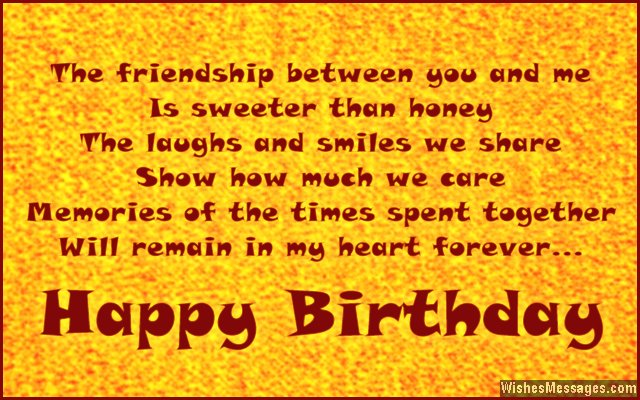 Cute birthday message for friends
