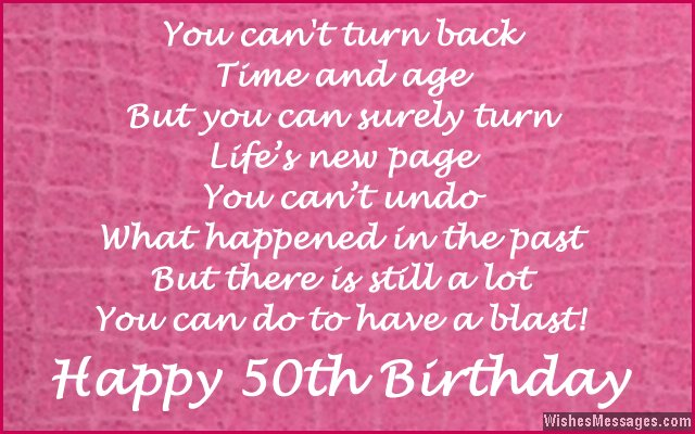 Cute Birthday Message For Turning 50 Years Old