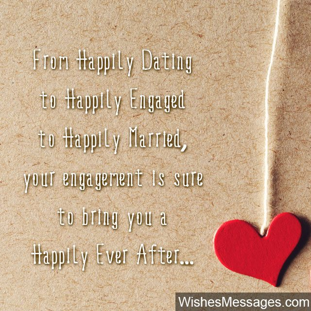 Happily ever after cute Engagement wishes