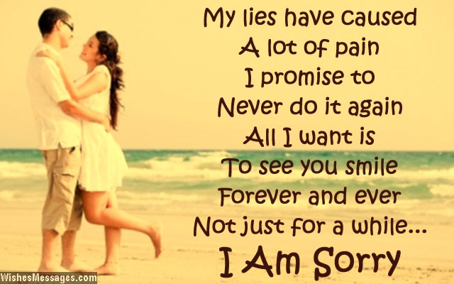 I am sorry message to girlfriend from boyfriend