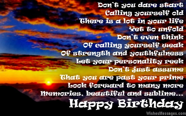 Inspirational 50th birthday greeting card message