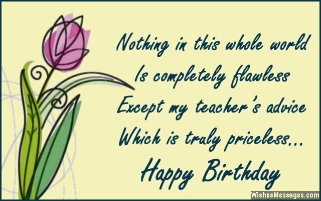 Birthday Wishes For Teachers Quotes And Messages Wishesmessages
