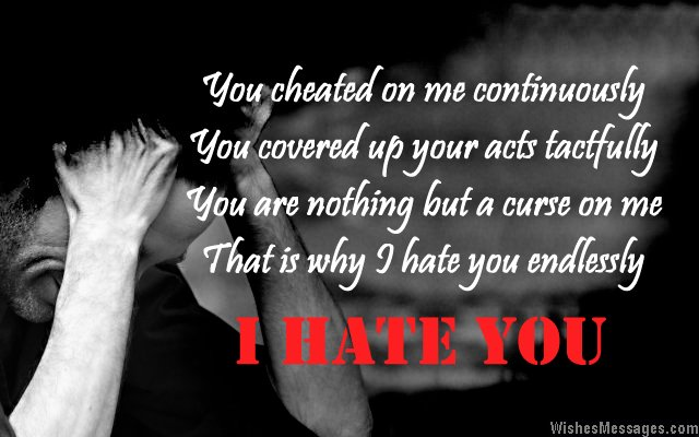 hate you poems for ex boyfriends sad i hate you poem for