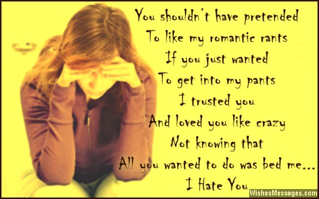 I Hate You Messages for Ex-Boyfriend: Hate You Messages for ...