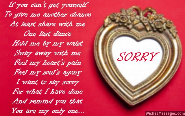 Apology words to your boyfriend