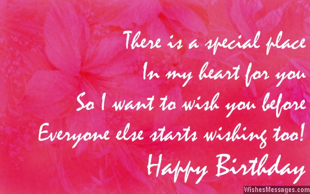 Sweet advance birthday card wish