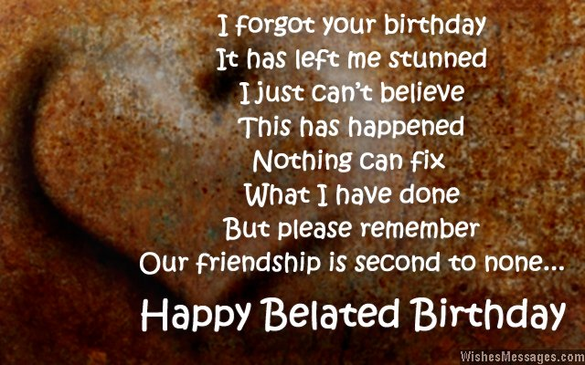 Belated birthday wishes for friends quotes and messages sweet belated birthday card wishes for friends m4hsunfo
