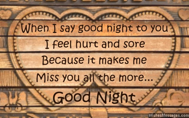 Sweet good night message to boyfriend from girlfriend