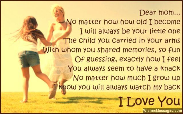 I Love You Poems for Mom – WishesMessages.com