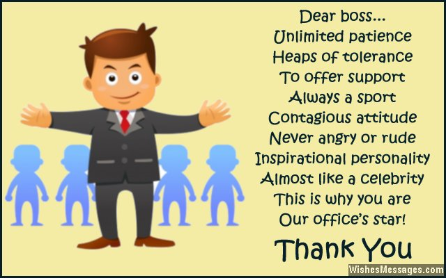 Superbe Thank You Note For Boss