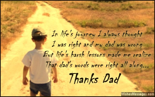 Thank you quote for dad