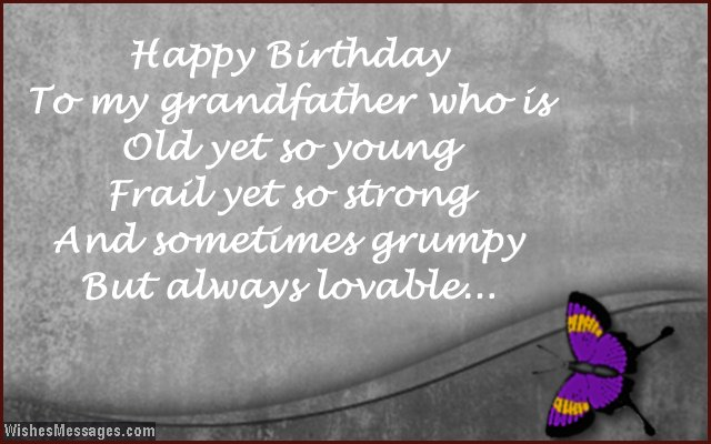 cute birthday message for grandpa from grandson or granddaughter