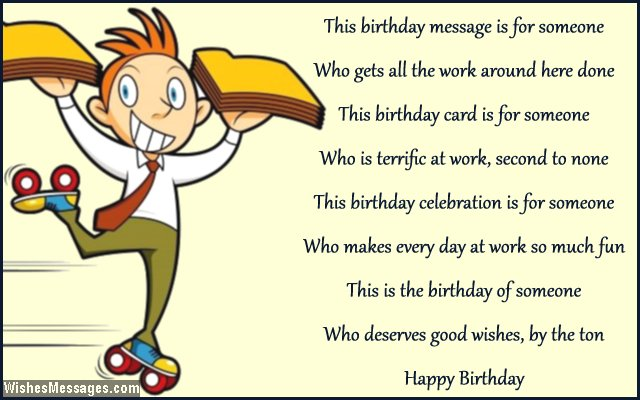 Birthday Poems for Colleagues – Page 3 – WishesMessages.com