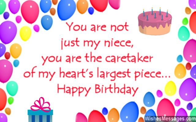Birthday greeting card quote message for nieces