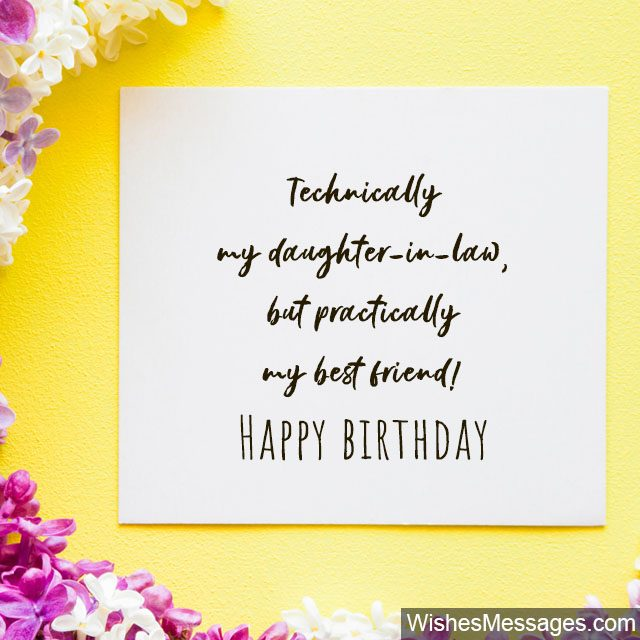 Daughter in Law Birthday Card With Love Daughter-in-Law On Your Birthday