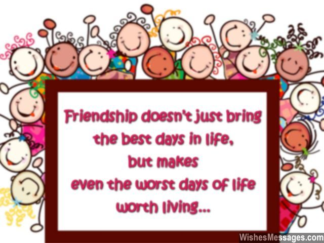 Friendship Day greeting card message for best friend