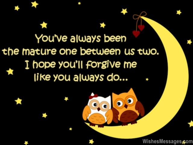Funny cute apology quote for sweet heart