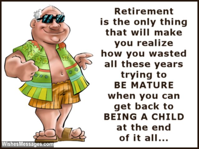 Funny Retirement Quote And Message For Greeting Card