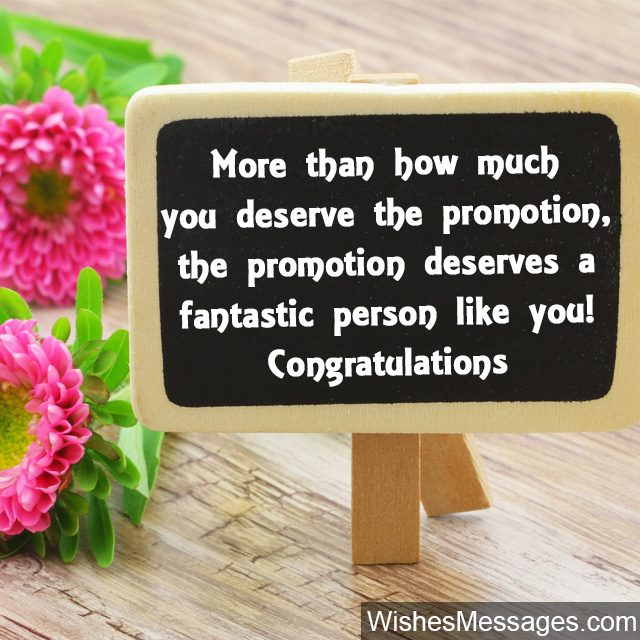 Getting a promotion congratulations wishes messages