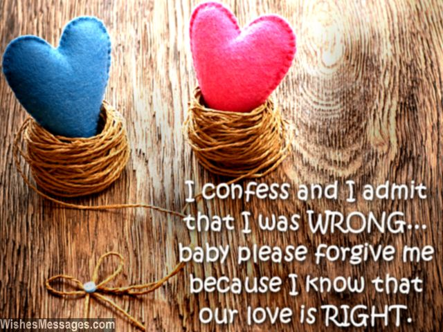 I am sorry greeting card message to wife from husband