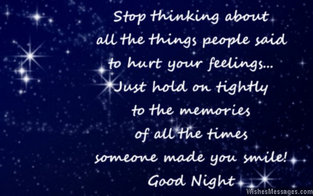 Inspirational good night quote for friends