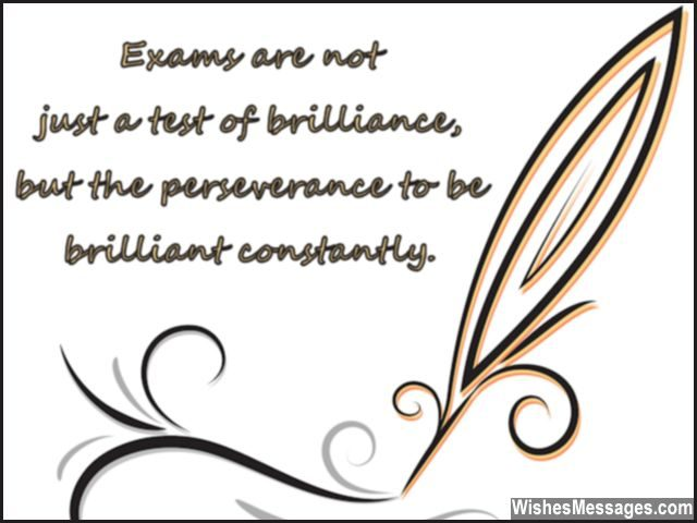 Motivational exam message for students from teacher or parents